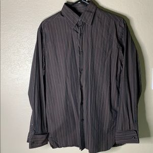 Men's Perry Ellis long sleeve button down shirt.